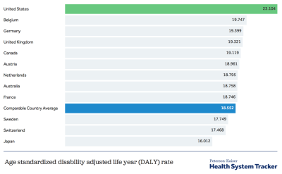 What do we know about the burden of disease in the U.S.?